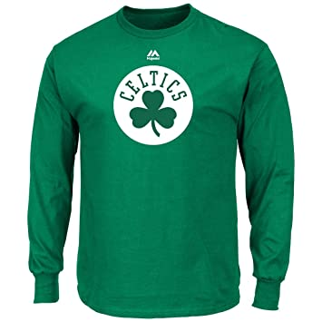4f50a511d0e9 Boston Celtics Majestic NBA  quot Supreme Logo quot  Men s Long Sleeve  T-Shirt -
