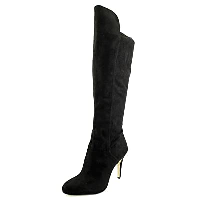 INC International Concepts Womens Tacy Almond Toe Over Knee Fashion Boots Black Size 8.5 M US | Knee-High