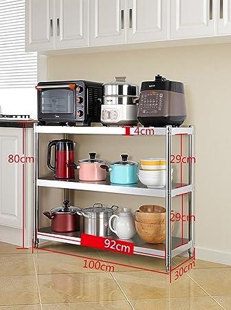 Aufbewahrung 3 Tier Kleine Küche Mikrowelle Stehen Edelstahl Mini ...