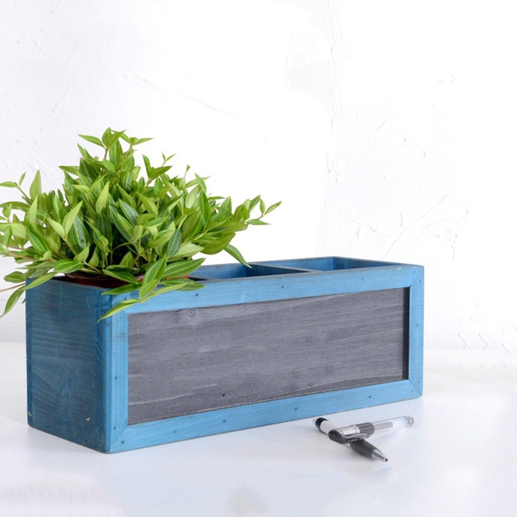 LXF telaio vaso di fiori Sospensione per davanzale da scrivania in legno massello ( colore   Blu )