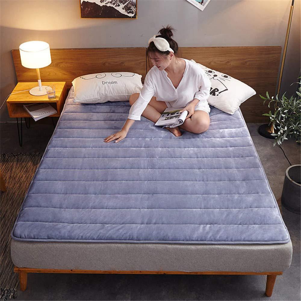 GFYL Japanese Futon Tatami mat Sleeping,Comfort Portable Folding Floor Mat,Anti-Slip Folding mat Single Double Floor Sleeping pad nap mat for Living Room Dormitory,A,120200cm(4779inch) by GFYL