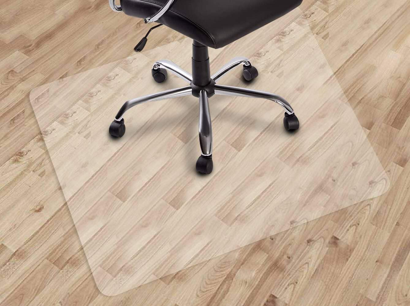 "Dinosaur Office Chair mat for Hard Floors, 30"" X 48"" Transparent Floor Mats, Easy Glide for Chairs, Wood/Tile Protection Mat for Office & Home (30"" X 48"" Rectangle)"