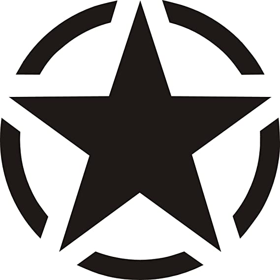 Adhesivo Pegatina Adhesivo Sticker estrella militar 12 cm ...