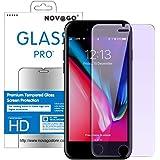 Novago Compatible iPhone 6, 6S,iPhone 7,iPhone 8 -Film Protection écran en Verre trempé résistant et Fin avec Effet Filtre de lumière Bleue