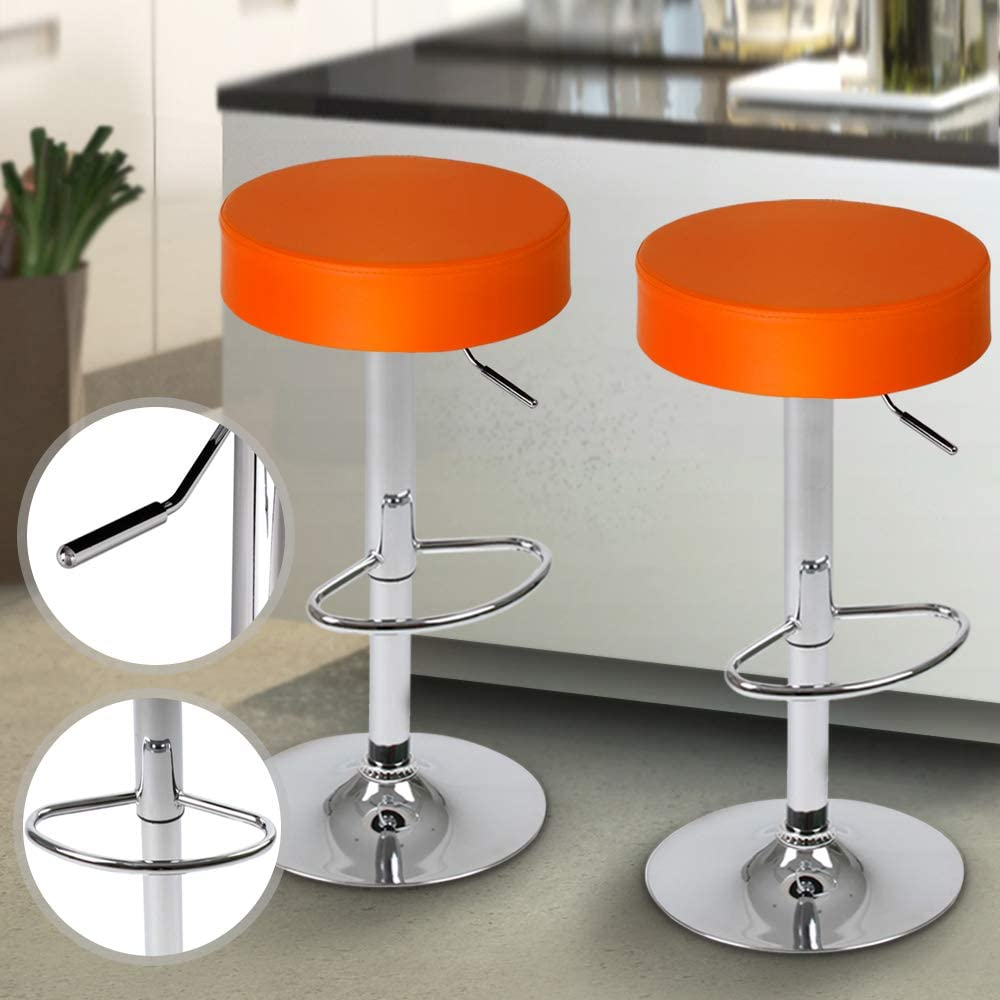 Jago LBHK06 2 Orange Bar Stools