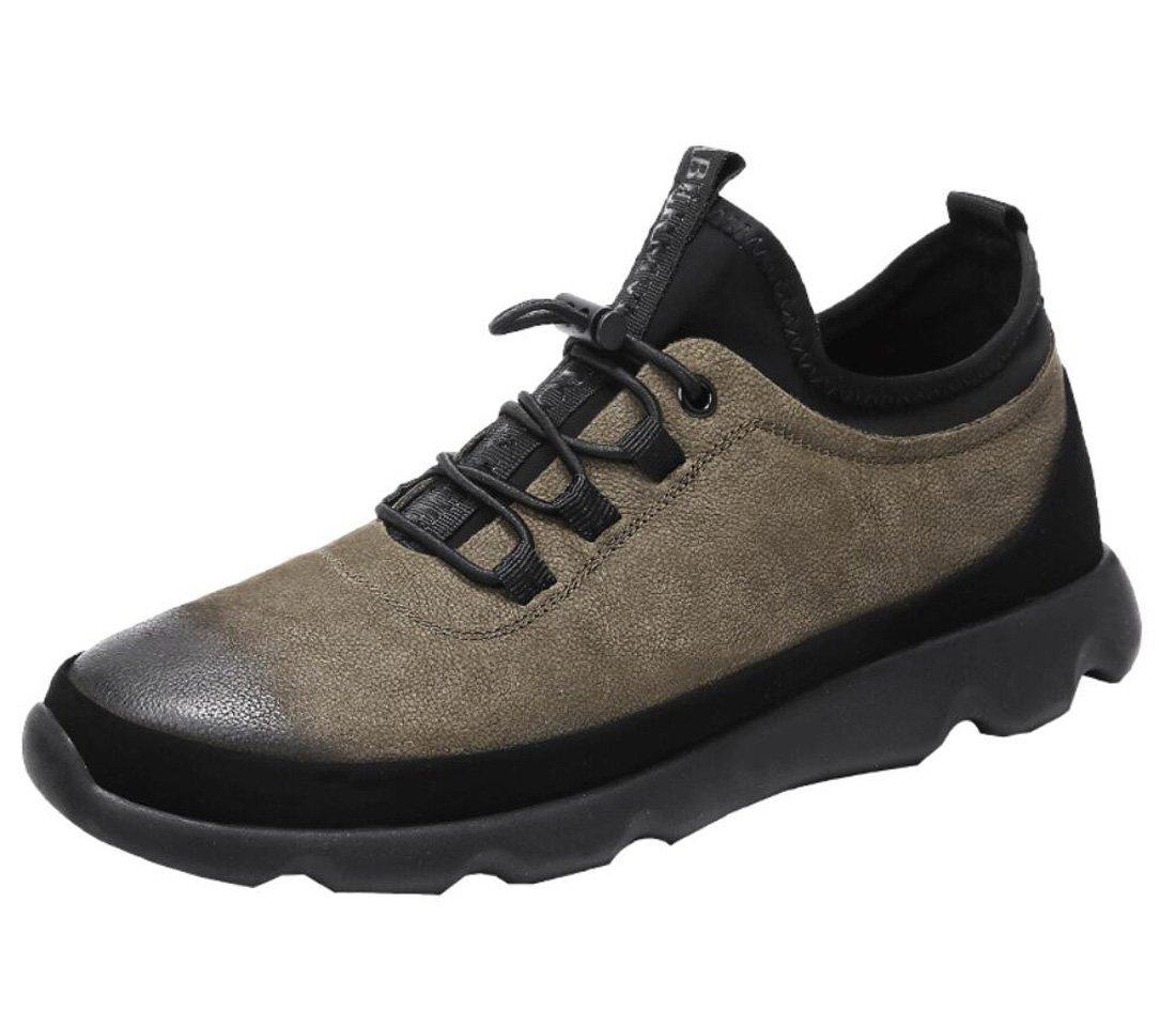DANDANJIE Zapatos de Hombre Primavera y Otoño Nuevos Zapatos para Caminar Zapatos Ocasionales de Negocios Británicos Zapatos Casuales al Aire Libre (Color : Caqui, Tamaño : 42 EU) 42 EU Caqui