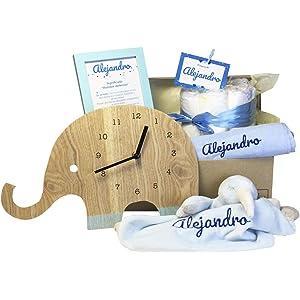 MabyBox Velvet DouDou | Canastilla Bebé Personalizada | Cesta Regalo ...