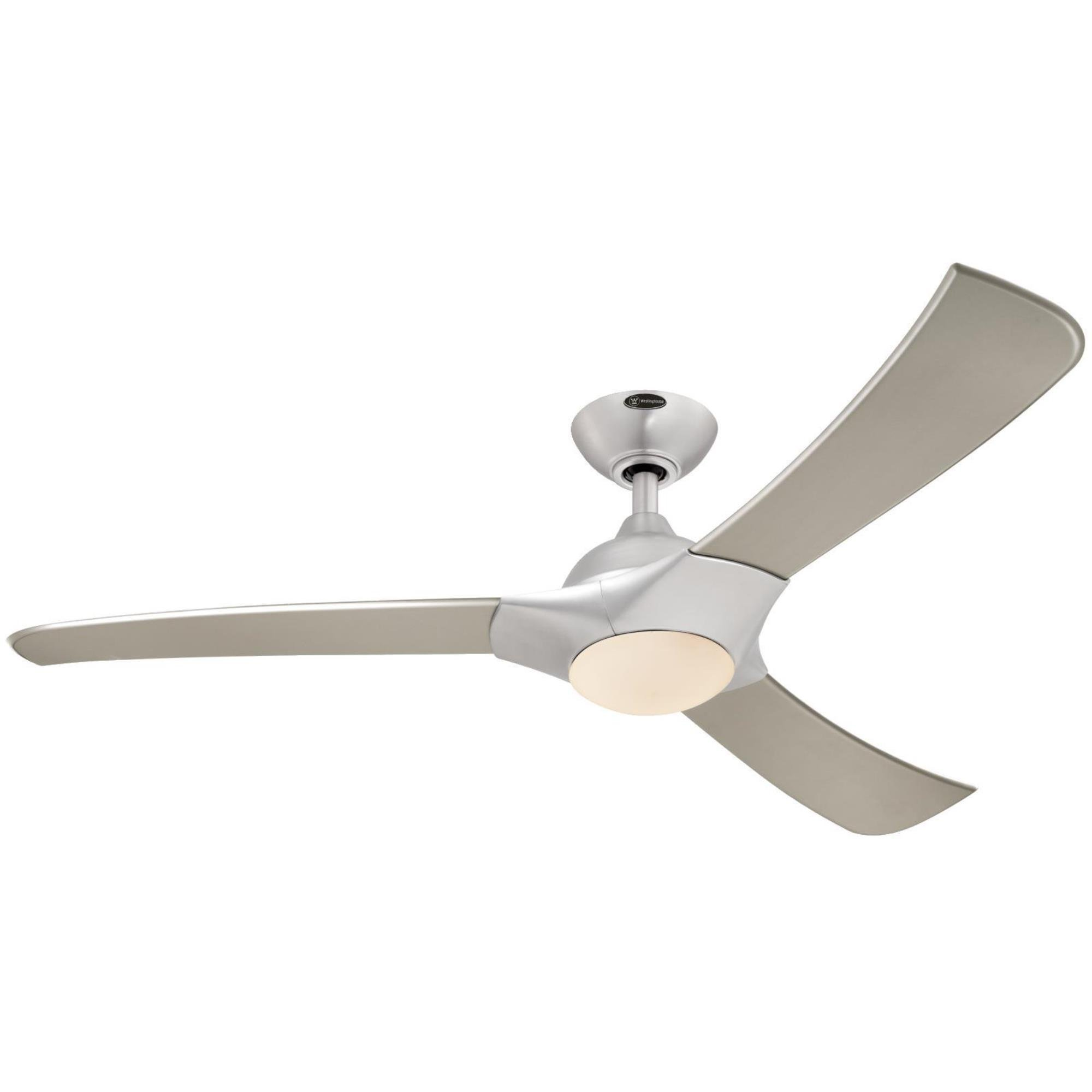 7800200 Techno 52-Inch Brushed Aluminum Indoor LED Ceiling Fan, Light Kit with Opal Frosted Glass