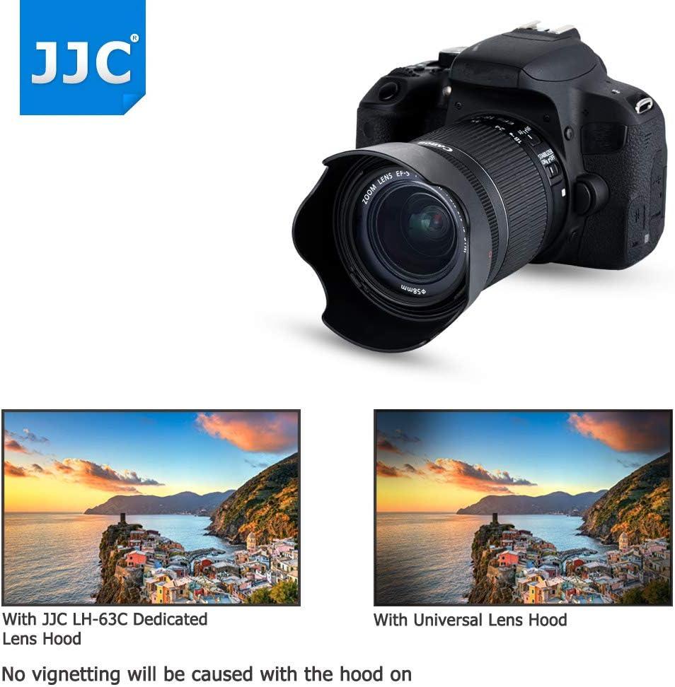Reversible Lens Hood Shade Protector for Canon EF-S 18-55mm F3.5-5.6 IS STM /& EF-S 18-55mm F4-5.6 IS STM Lens on Camera Rebel T8i T7i T6i T5i SL3 SL2 EOS 90D 80D 77D 70D 850D 800D Replace Canon EW-63C