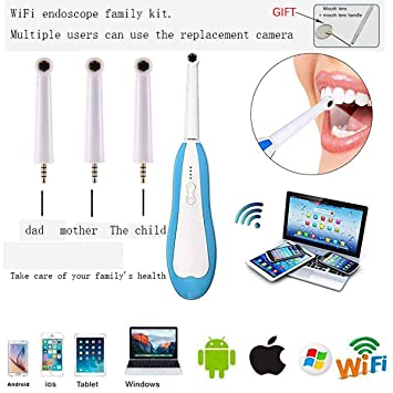 Amazon.com: ROCKY DENTAL Dental Endoscope Hd WIFI Android Mobile Phone Oral Endoscope Mouth Endoscope Detector: Beauty