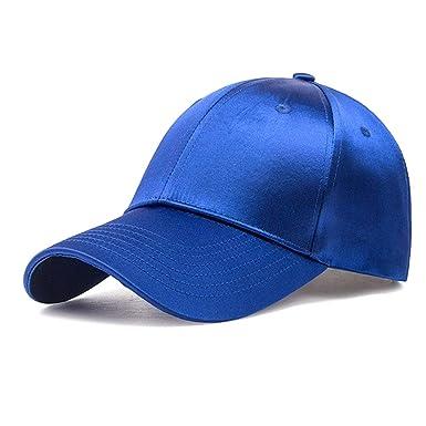 Gysad Con Brillo de Seda Gorras Planas Unisex Gorras Color Caramelo Sombrero Hombre Boina Mujer (