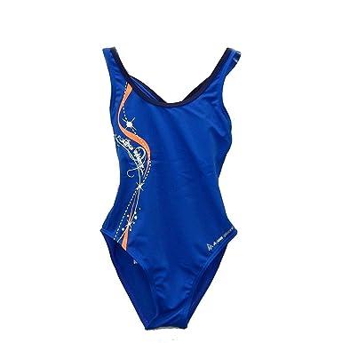 e42c21e72b Amazon.com: Bliss Girls Swimsuit, Blue/Bright Orange, 16Y: Clothing