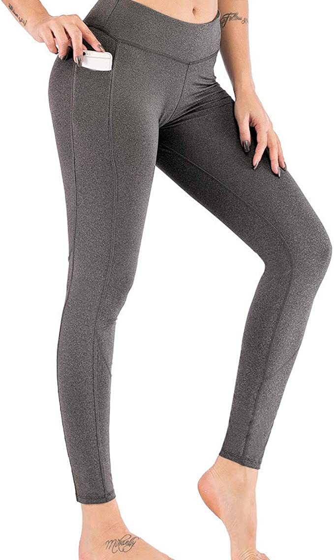 Damen Bedruckt Hose Bleistift Hohe Taille Stretch Training Sports Yoga Fitness