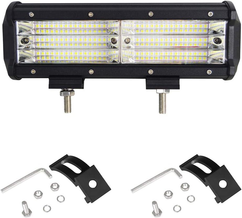 2 years Warranty Willpower 12 Inch 330W LED Light Bar Quad Row Spot /& Flood Combo Work Lights Offroad Fog Driving Lights for Trucks Pickup Jeep SUV ATV UTV Boat