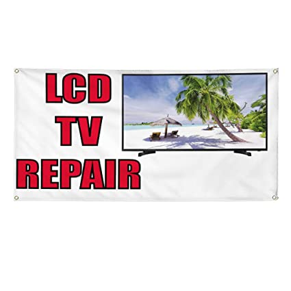Amazon com : Vinyl Banner Sign LCD Tv Repair Business LCD Tv