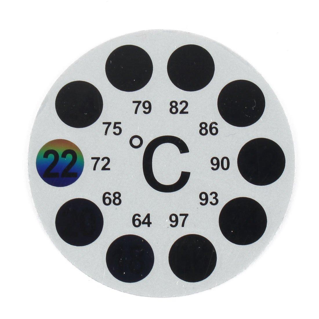 uxcell Plastic Aquarium Round Shaped Sticker Thermometer Temperature Indicator a16120700ux0056