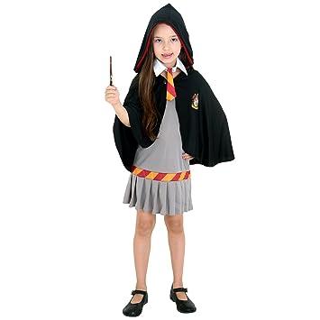 24b8c8afd Fantasia Hermione Infantil 23397-M Sulamericana Fantasias Cinza Preto M 6 8  Anos
