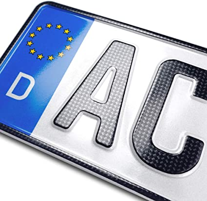Schildevo 1 Carbon Kfz Kennzeichen 460 X 110 Mm Offiziell Amtliche Nummernschilder Din Zertifiziert Eu Wunschkennzeichen Mit Individueller Prägung Autokennzeichen Auto