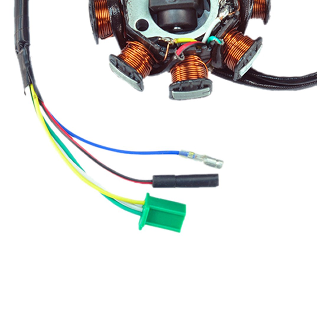 New Ac Magneto Stator 8 Coil Pole 5 Wire Gy6 125cc Regulator Wiring Diagram On 3 Phase Generator 150cc Atv Scooter Sports Outdoors