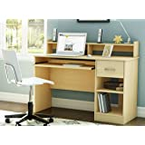South Shore Small Desk - Great Writing Desk for Your Child - The Computer Desk Is Great for Your Kid's Bedroom or Any Small Area- Place a Laptop in This Study Table - 5 Years Warranty! (Natural Maple)
