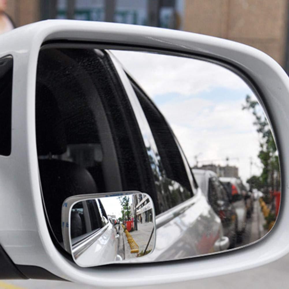 Biback Spiegel fü r toten Winkel, HD-Glas, konvexe Linse, rahmenlos, verstellbar, fü r alle universellen Fahrzeuge, Auto-Aufkleber, 2 Stü ck