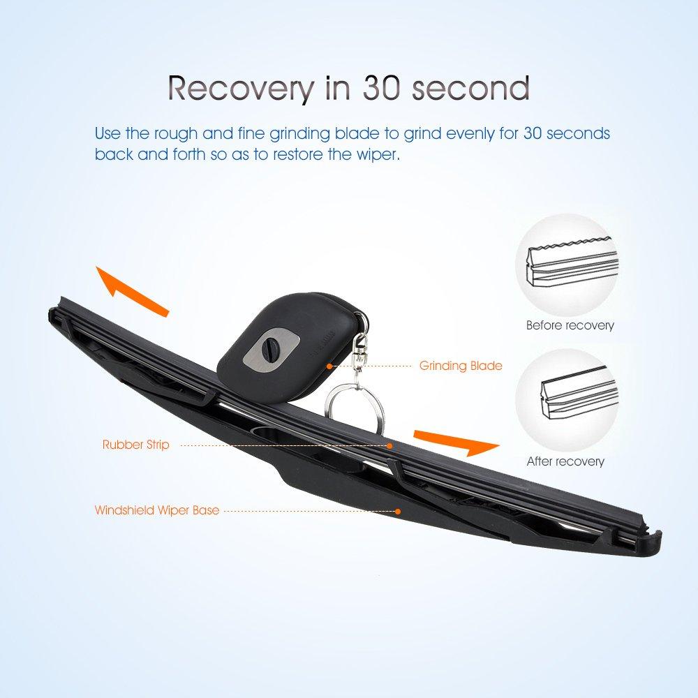 fontic Universal coche parabrisas tira de goma limpiaparabrisas reparación herramienta restaurador limpiador restaurador de escobilla para limpiaparabrisas: ...