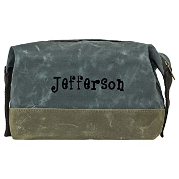 93667bbbc500 Amazon.com   Waxed Canvas Mens Dopp Kit (Grey)   Beauty
