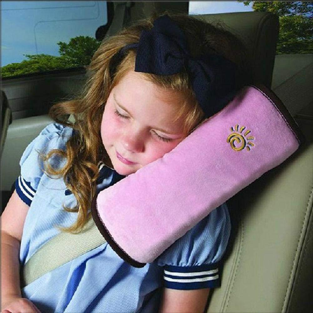 Seatbelt Pillow, Universal Car Seatbelt Pillow | Seatbelt Protector | Seat Belt Cushion Shoulder Strap |Headrest Neck Support for Children Baby,Car Travel Head Cushion for Kids Children and Adult Pawaca