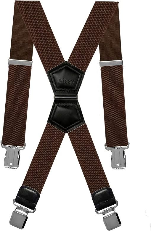 Aissy Tirantes para hombres X Forma 4cm Tirantes elásticos y ...
