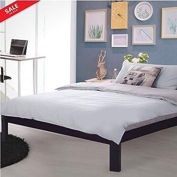 Amazon.com: Platform Bed Base Full Mattress Size Bedroom Steel Bed ...