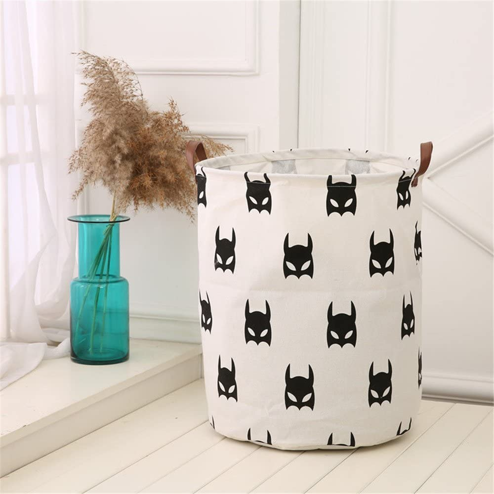 Clothes,Baby Nursery Posional Storage Bin,Canvas Fabric Collapsible Organizer Basket for Laundry Hamper,Toy Bins,Gift Baskets Bedroom A