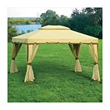 Cabin Style 10 x 12 Gazebo Replacement Canopy and Netting Set