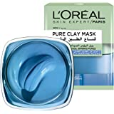 L'Oreal Paris Pure Clay Blue Face Mask With Marine Algae Clears Blackheads And Shrink Pores