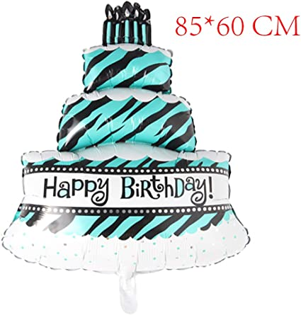 Brilliant Amazon Com Three Layers Happy Birthday Cake Balloons Aluminum Funny Birthday Cards Online Alyptdamsfinfo