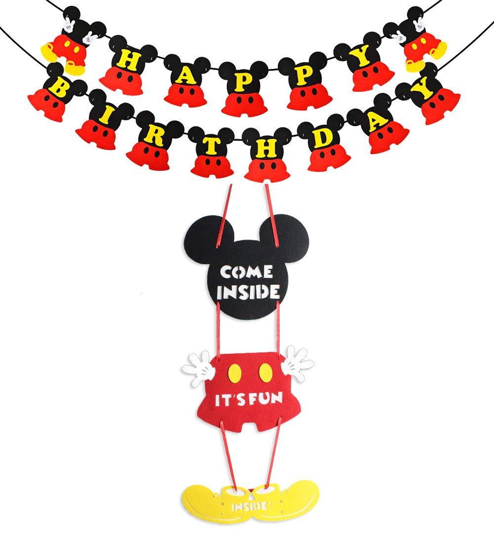 Jollyboom Mickey Mouse Decoraciones de Fiesta y Suministros ...