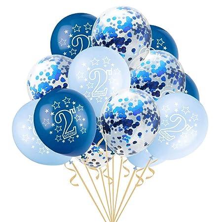 ZLJTT 15 Piezas 12 Pulgadas Feliz cumpleaños de 2 años ...
