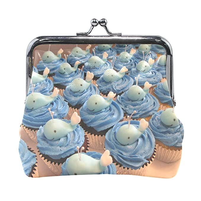 Coin Purse Whale Baby Shower Cake Womens Wallet Clutch Bag Girls