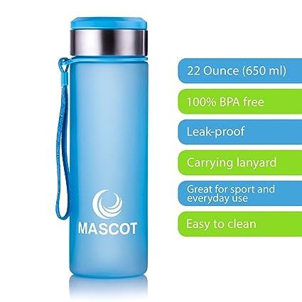 Amazon.com: Mascot Botella deportiva de moda con cordón de ...