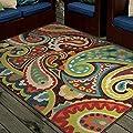 Orian Rugs Indoor/Outdoor Paisley Monteray Multi Area Rug