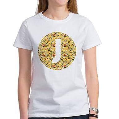 b141841cec3 CafePress Emoji Circle Letter J Women s Classic T Shirt Womens Cotton T- Shirt