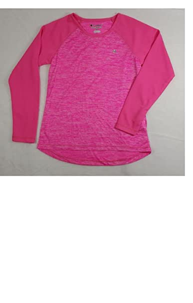 9545dfb42 Image Unavailable. Image not available for. Color: Champion Girls' Performance  Active Raglan Long Sleeve Space Dye Tee ...