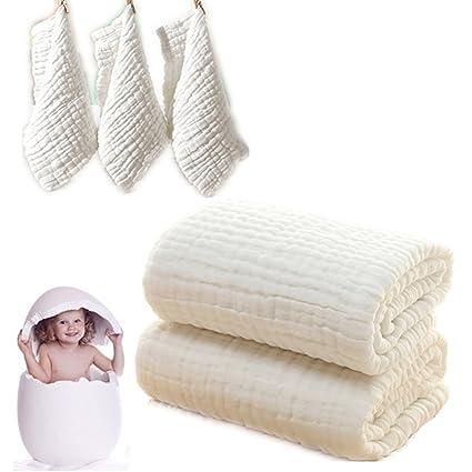 Juego de toallas de baño y paños de baño para bebé, manta de bebé y paños ...