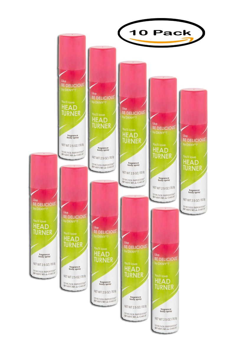 PACK OF 10 - Designer Imposters Head Turner Fragrance Body Spray, 2.5 oz