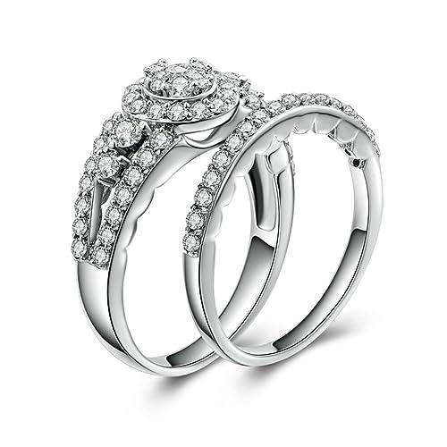 (personalizada anillo) Adisaer plateado anillos para las mujeres boda bandas grabado Circonita