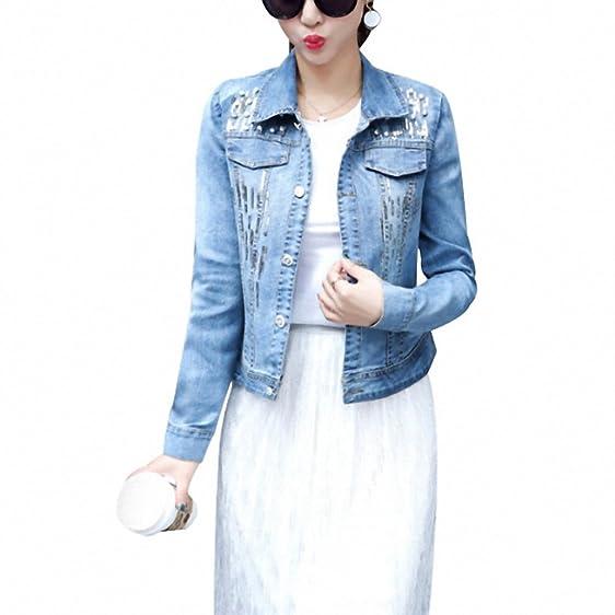 Girls Embroidered Denim Jacket