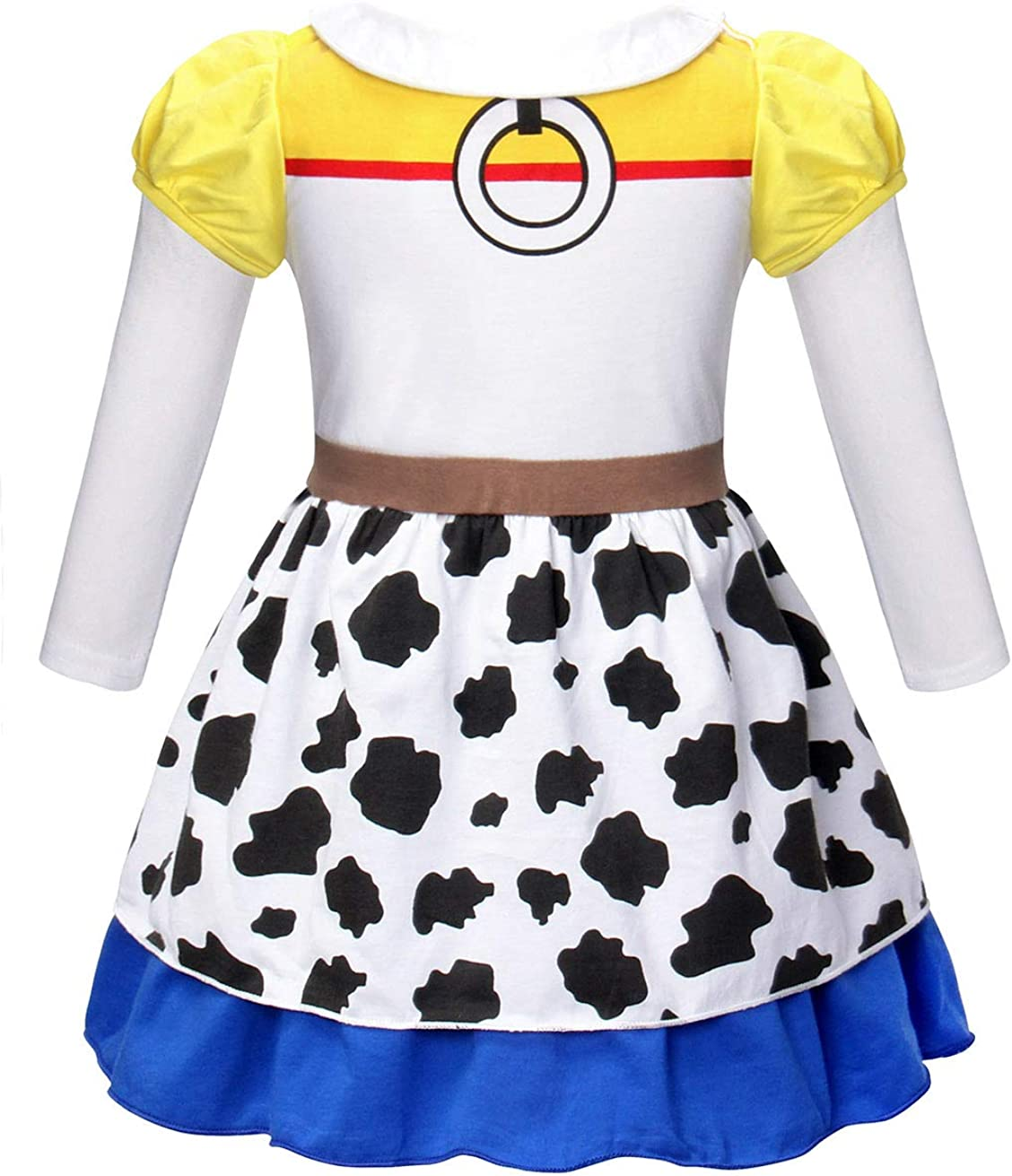 AmzBarley Girls Jessie Costume Dress up Kids Toddler Fancy Party Dresses Children Birthday Holiday Halloween Cosplay Outfit Clothes