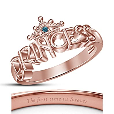 Buy Vorra Fashion Disney Princess Inspired Engagement Rings
