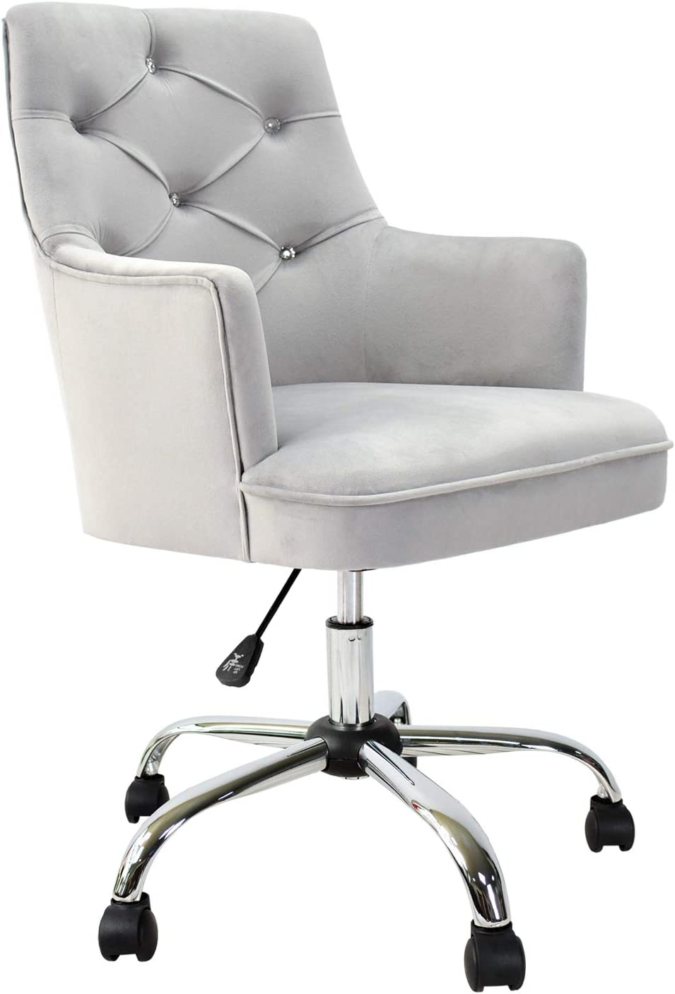 XIZZI Cute Desk Chair,Computer Chair, Adjustable Swivel Home Office Chair,  Office Chair with Wheels and Arms (Grey)