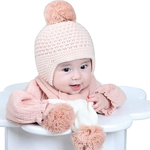 b20d4175f Amazon.com: Zoylink Baby Knitted Hat Children Warm Earmuffs Hat ...