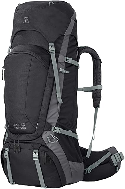 Jack Wolfskin Men's Denali 75 Excursion Backpack, Black, MediumX Large